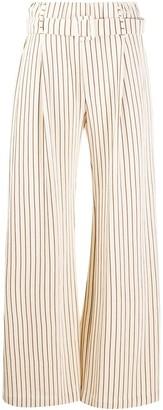 Erika Cavallini Striped Wide-Leg Trousers