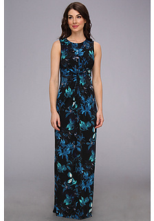 Vince Camuto Knot Front Printed Jersey Maxi