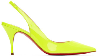 Christian Louboutin Yellow Clare Slingback 80 Heels