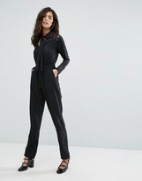 Fashion Union Lace Shoulder Jumpsuit