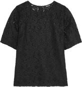 DKNY Macramé lace top