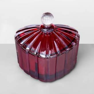 Glass Heart Opalhouse 3oz Etched Jar Candle with Knob Velvet Petals - OpalhouseTM