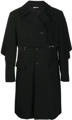 Comme des Garcons Layered Raw Edge Trenchcoat