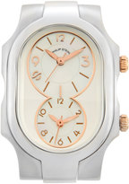 Philip Stein Teslar Small Signature Dual Time Zone Watch Head