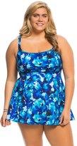 Longitude Plus Size Key Largo Princess Seam Swim Dress 8138663