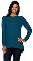 As Is H by Halston French Terry Scoop Neck LongSleeve Hi-Low Tunic