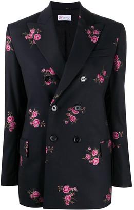 RED Valentino Floral-Embroidered Blazer