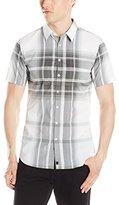 Calvin Klein Men's Blown Up Plaid Short Sleeve Woven Shirt