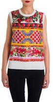Dolce & Gabbana Foulard-Front Silk Shell