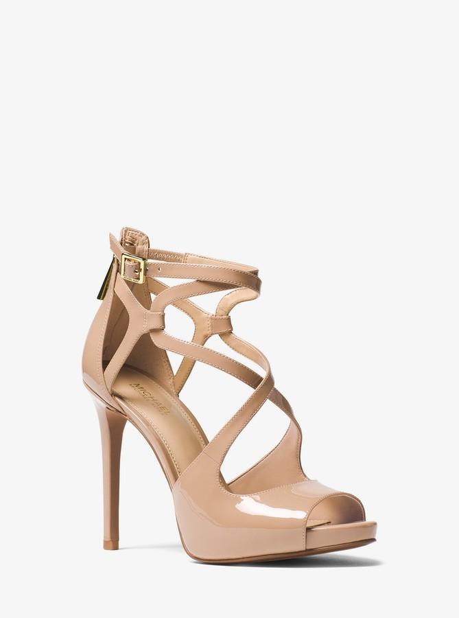 MICHAEL Michael Kors Catia Patent Leather Sandal