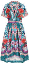 Temperley London Pipe Dream Printed Silk Midi Dress - Blue