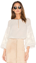 Maison Scotch Embroidered Tunic Top