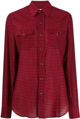 Saint Laurent gingham check shirt