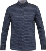 Ted Baker Hartbop Geo Print Cotton Shirt