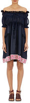 Chloé Women's Plissé Babydoll Dress-NAVY