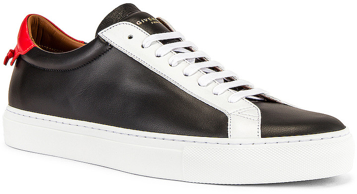 Givenchy Urban Street Low Top Sneaker in Black & Red & White   FWRD