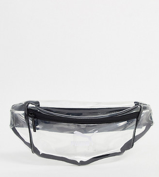 Puma Lux waist bag in clear plastic