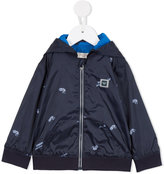 Armani Junior Urban Jungle hooded bomber jacket - kids - Polyester - 9 mth
