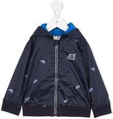 Armani Junior Urban Jungle hooded bomber jacket