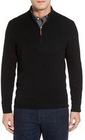 Nordstrom Cashmere Quarter Zip Sweater (Big)