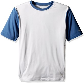 Volcom Men's Stripe Heather Short Sleeve Rashguard Cool Grey X-Small