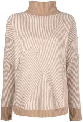 Blumarine Stripe-Pattern Knitted Jumper