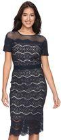 Jax Women's Scalloped Lace Sheath Dress