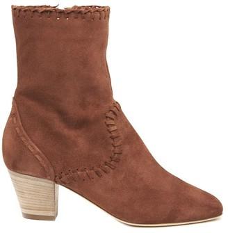 Alberta Ferretti Chunky Ankle Boots