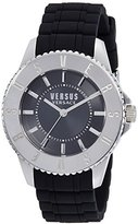 Versus By Versace Men's SGM160015 TOKYO Stainless Steel Watch with Black Rubber Band