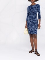 Thumbnail for your product : Lauren Ralph Lauren Paisley-Print Boat Neck Dress