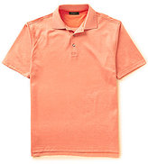 Bobby Jones Golf Pinwheel Printed Knit Jacquard Short-Sleeve Polo Shirt