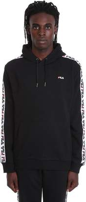 Fila David Taped Sweatshirt In Black Cotton