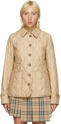 Burberry Beige Quilted Fernleigh Jacket