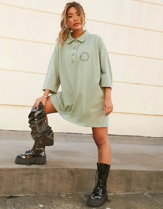 ASOS Weekend Collective oversized collared mini dress