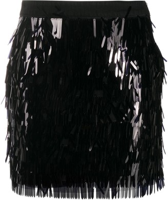 Pinko Sequin Fitted Skirt