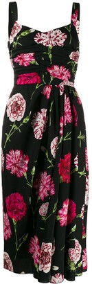 Dolce & Gabbana carnation print midi dress