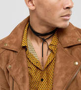 Reclaimed Vintage Inspired Faux Leather Wrap Choker Necklace Exclusive To ASOS