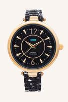 La Mer Black/Gold Sicily Watch
