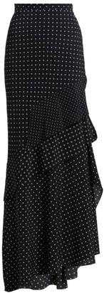 Max Mara Navata Polka Dot Maxi Skirt