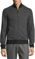 Billy Reid Jacquard Knit Track Jacket, Charcoal