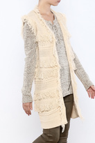 Moon River Natural Duster Length Vest