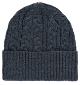 George Cable Knit Beanie Hat