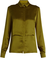 Maison Margiela Long-sleeved silk-charmeuse blouse