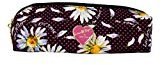 Betsey Johnson Luv Betsey Pencil Cosmetic Case Bag (PINK/BLACK DAISY)
