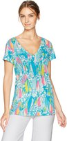 Lilly Pulitzer Women's Meredith Short Sleeve Tee Beach and Bae