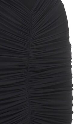 Thierry Mugler Fluid Jersey Long Asymmetric Dress