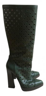 Marni Green Leather Boots