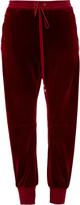 Chloé Drawstring velvet trousers
