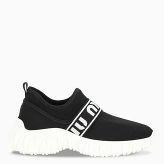 Miu Miu Black stretch knit sneakers