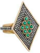 Moritz Glik Two-Tone Emerald Ring